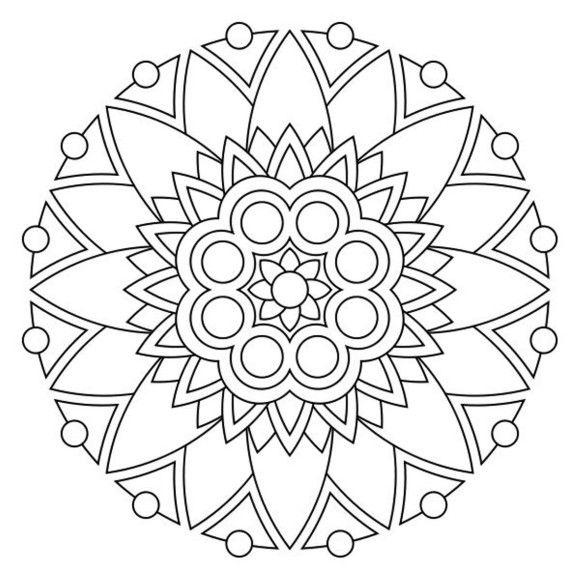 Mandala Coloring Pages Free Printable | Mosaic inspirations ...