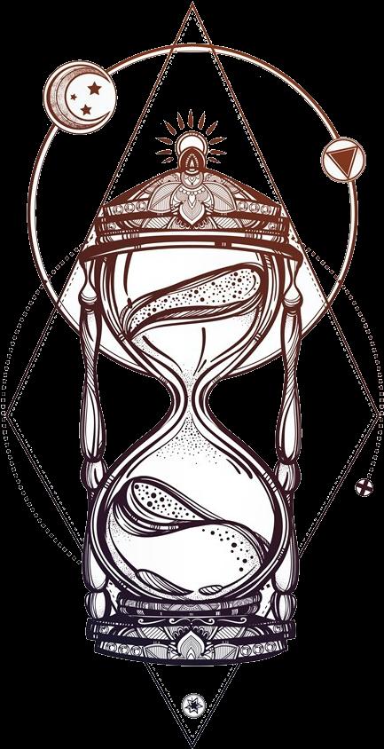 Hourglass Tattoo Designs Creative Hourglass Drawing Full Size Png Download Seekpng Tatuagem De Ampulheta Tatuagens Tribais Pequenas Desenho De Ampulheta