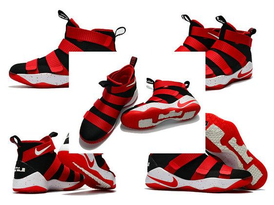 b1d42be448c Latest LBJ Sneakers Cheap Nike Zoom Lebron Soldier 11 XI Bred Sport ...