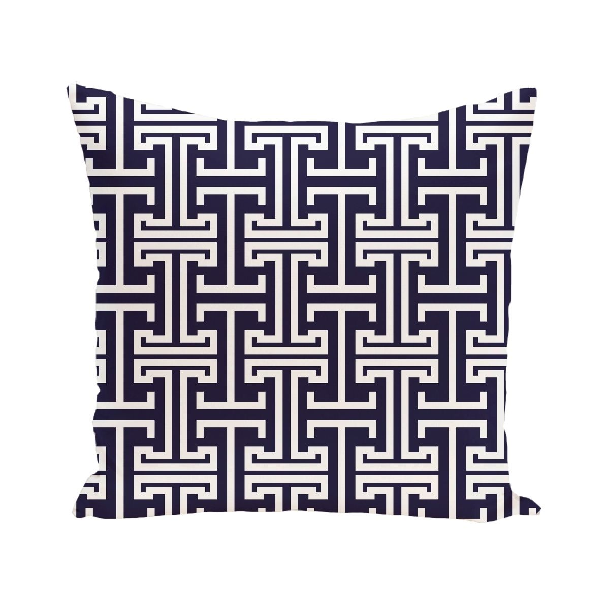 E by design geometric print blue grey green yellow purple