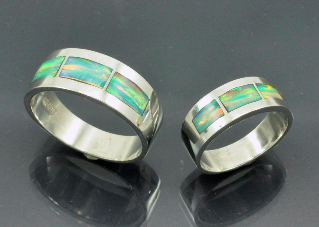 Sterling+Silver+Opal+Inlay+Set+of+Matching+by+JewelerJim+on+Etsy,+$265.00