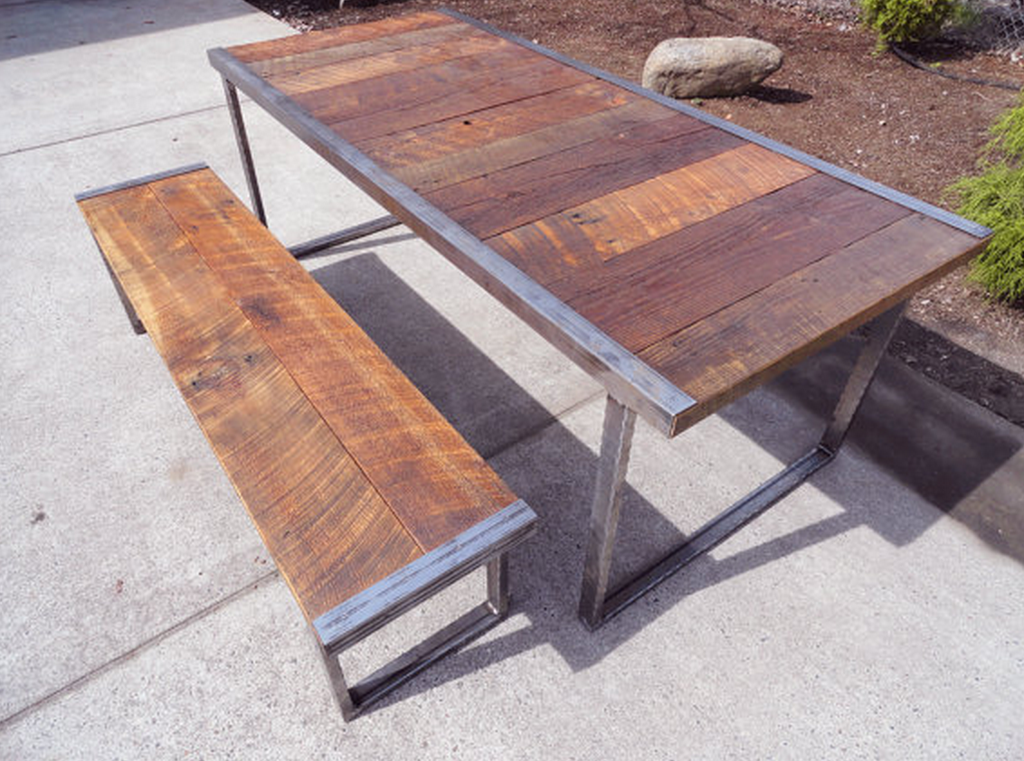 Reclaimed kitchen table  Reclaimed table and bench by a bay area guy  Home decor