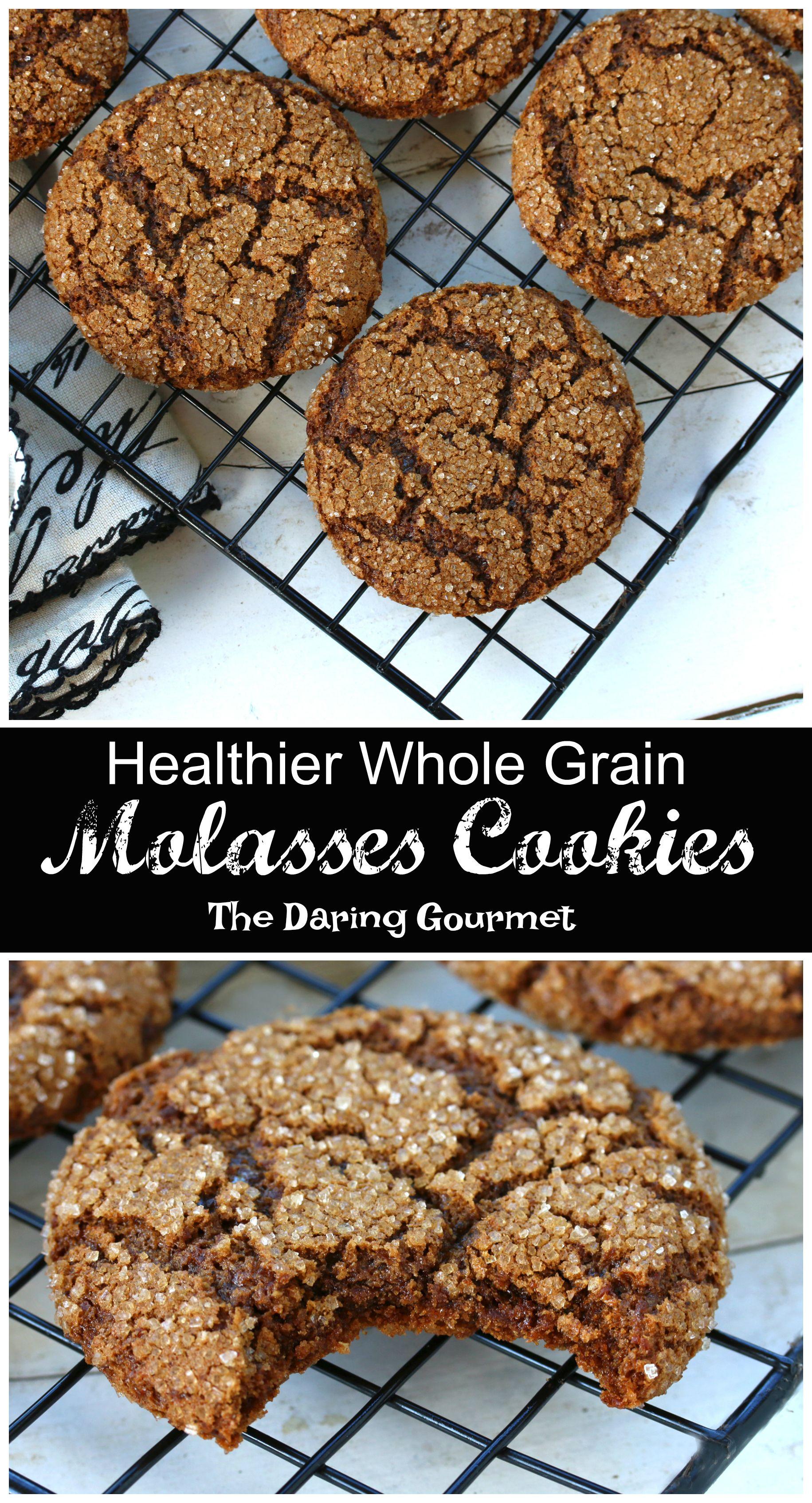 Healthier Whole Grain Molasses Cookies Recipe The Daring Gourmet