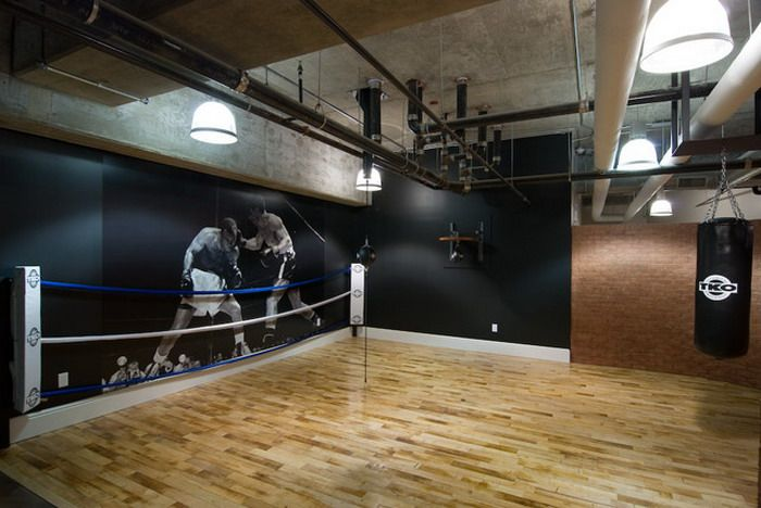 Feature Boxing Wall Gym Design Home