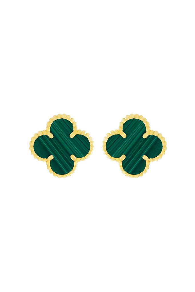 Van Cleef Arpels Fall 2017 Magic Alhambra Emerald Green Earclips