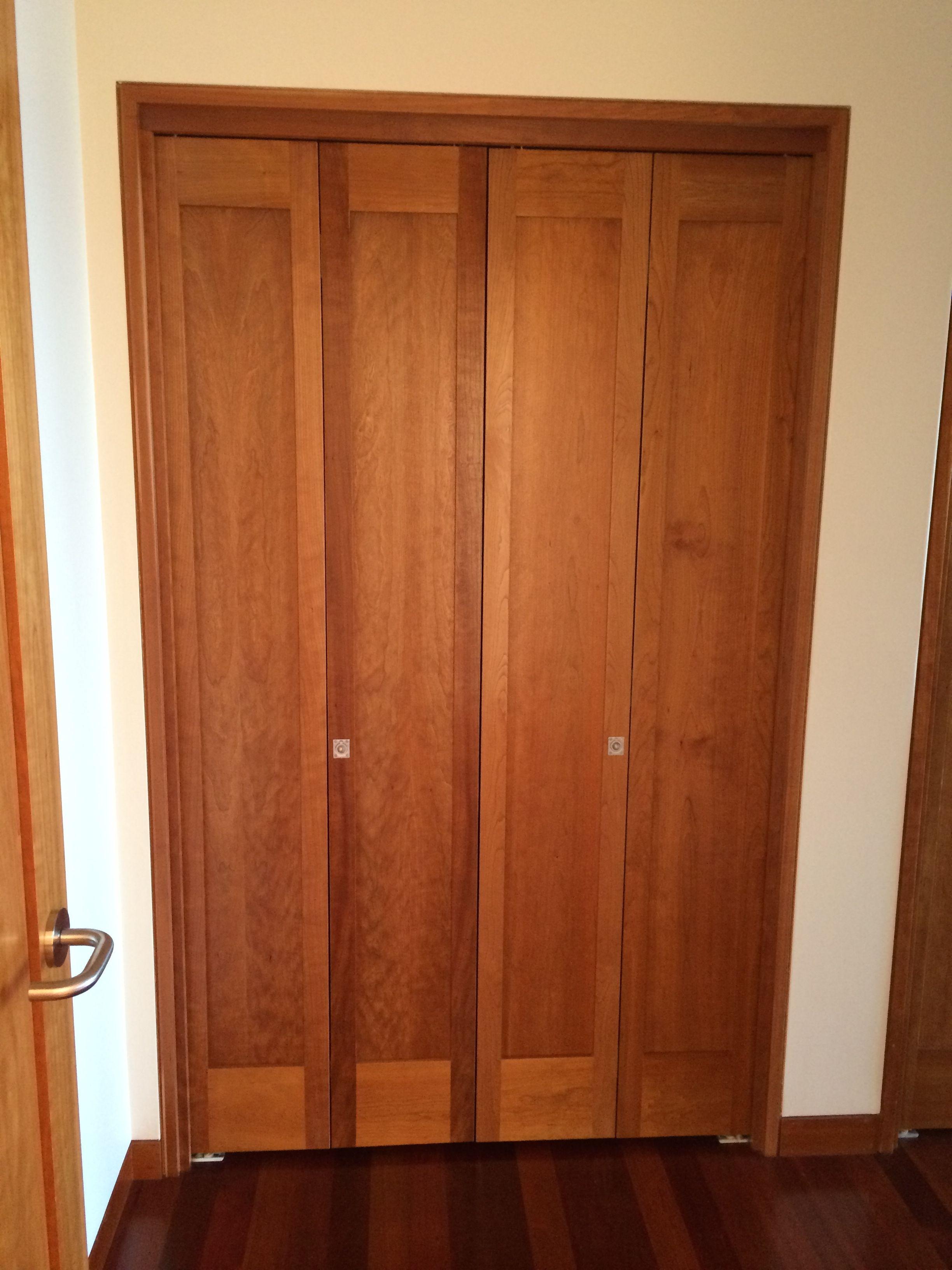 Cherry Wood Bifold Closet Doors
