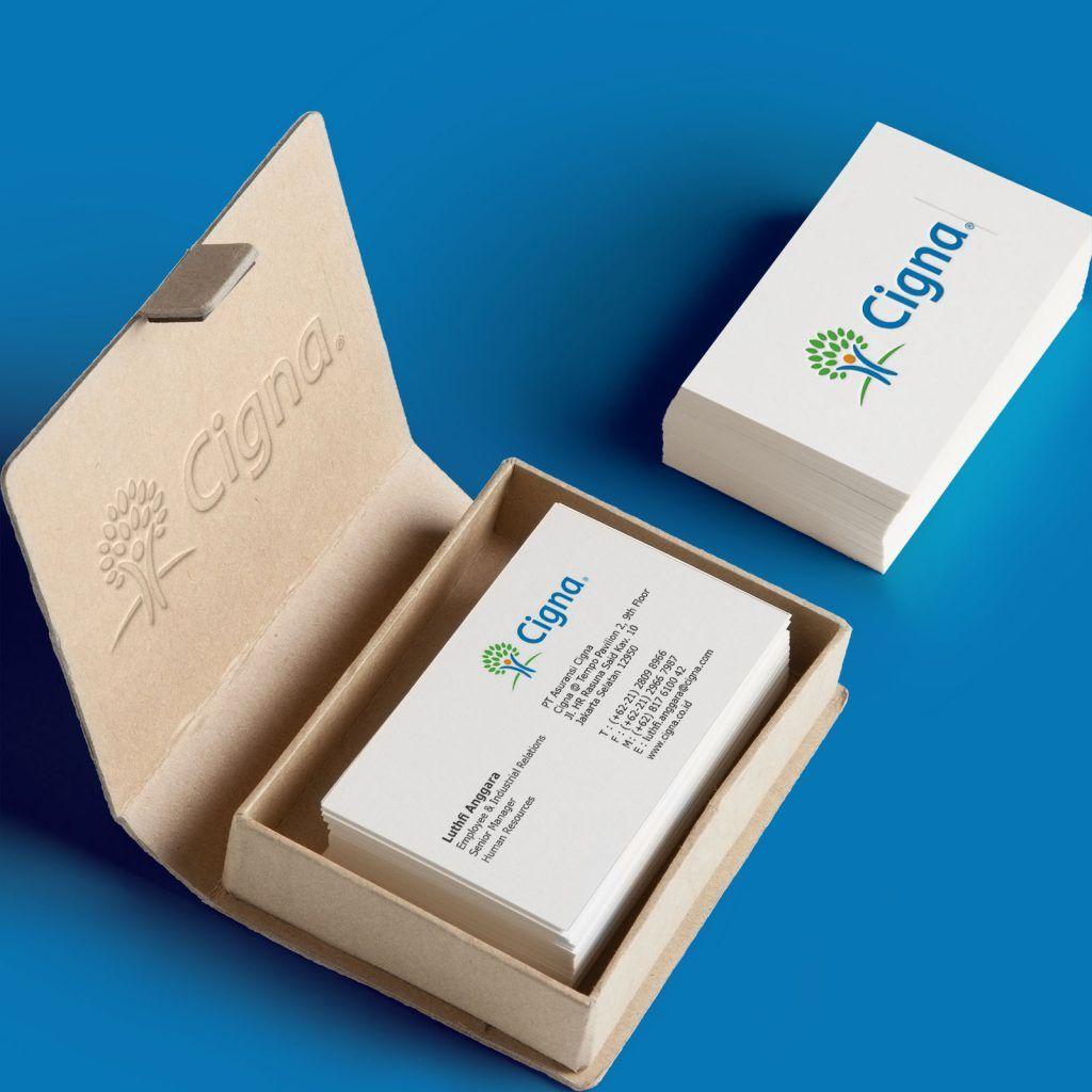 Business card cigna redesign by ancelmus simamora