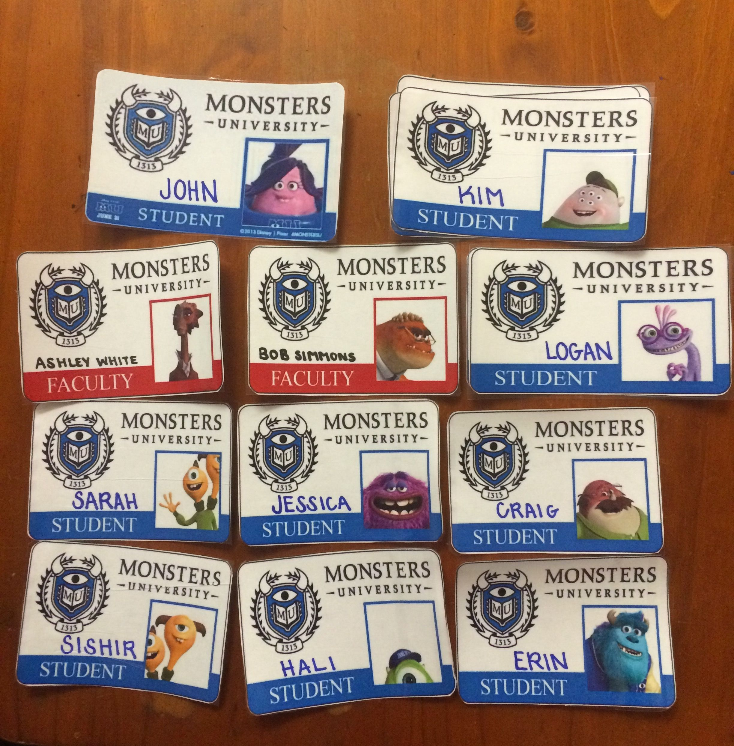 image relating to Printable Door Tags known as Monsters School Slide Welcome Doorway Decs for Citizens