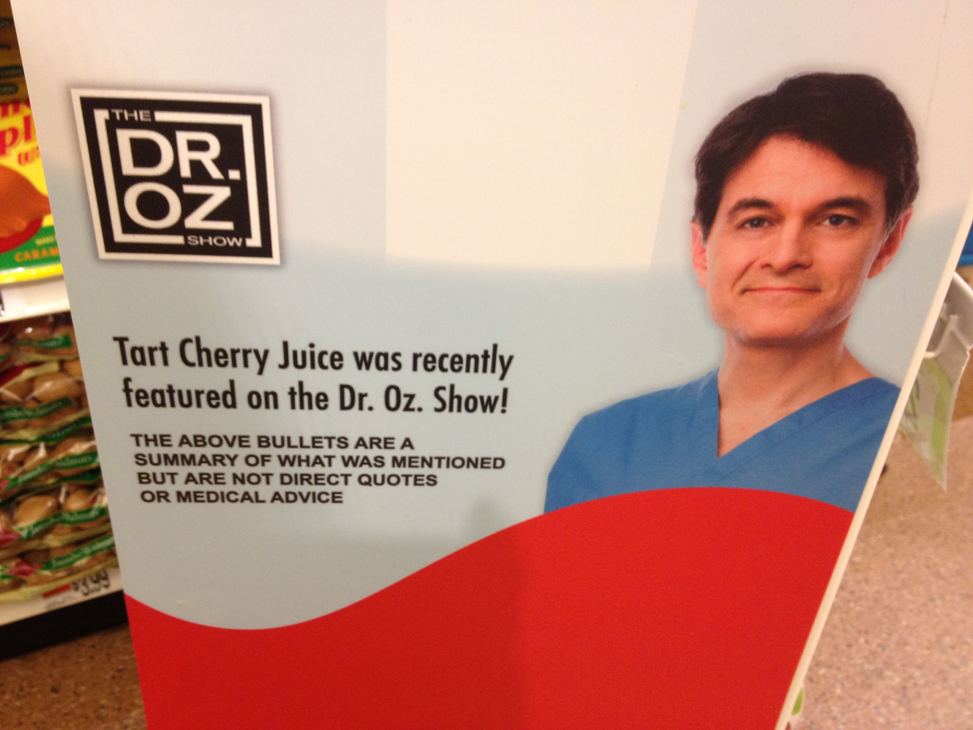 Tart Cherry Juice #Dr.OZ, as seen at Stop  Shop grocery store in CT, Summer 2013.
