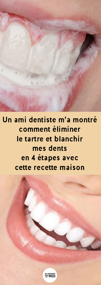 recette blanchiment des dents maison