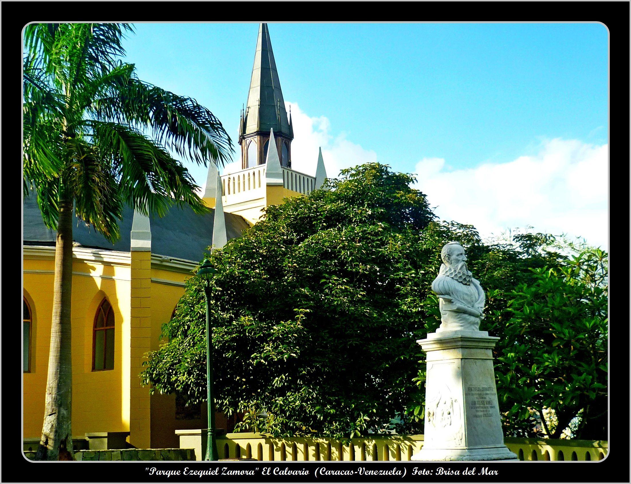 Capilla De Nuestra Señora De Lourdes Y Busto De Miguel De Cervantes Parque Ezequiel Zamora El Calvario Caracas Vene Caracas Largest Countries South America