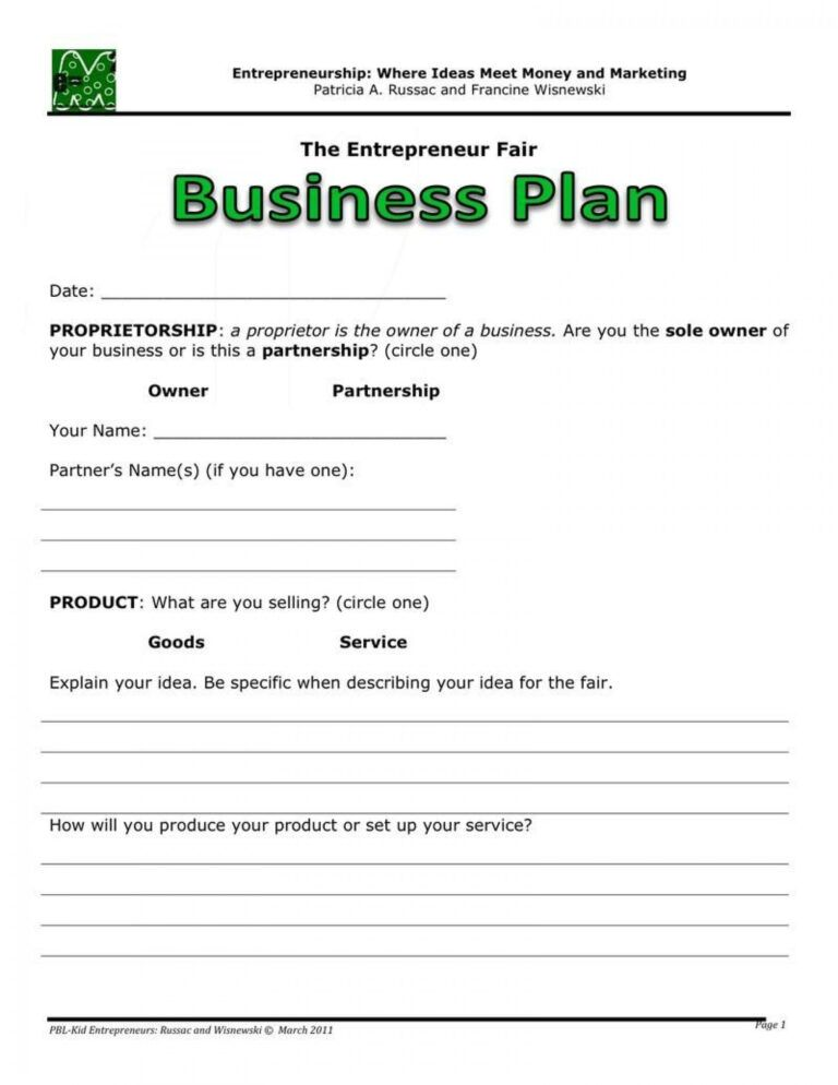 006 20Business Plans Plan20Ine Sample Pdf Template