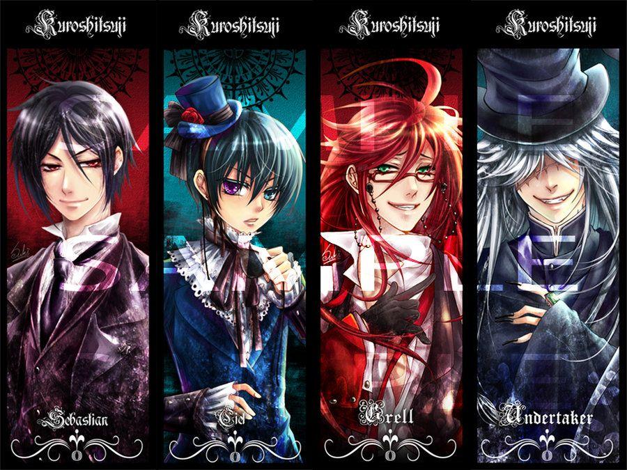 картинки темный дворецкий все персонажи