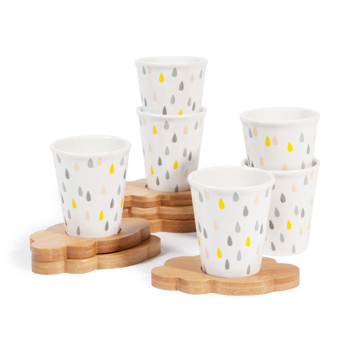 Caja 6 Tazas Con Platos De Café Nube Maisons Du Monde Dinerware