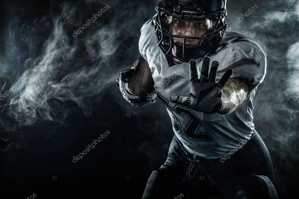 American Football Sportsman Player In Helmet On Stadium Sport Wallpaper Sports Wallpapers American Football American Football Players