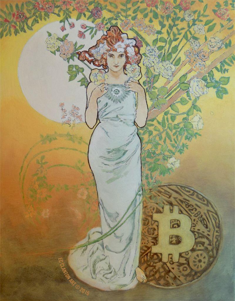 "Colors of Bitcoin ""Spring"" by Emily Clanton | Bitcoin Art"