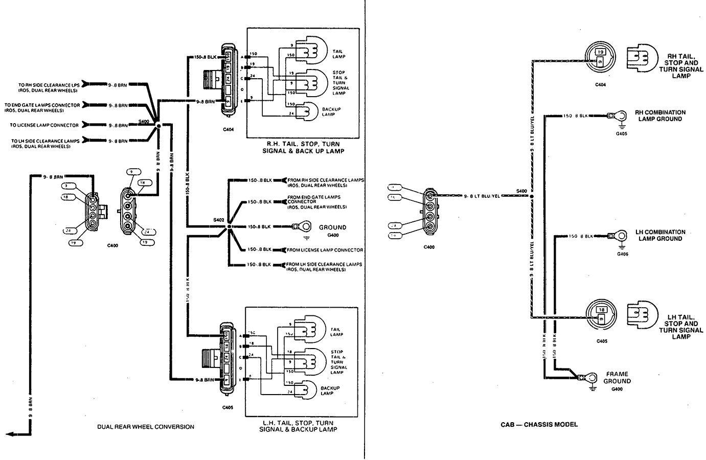 2004 Chevy Tail Light Electrical Diagram Electrical Diagram Chevy Silverado Trailer Wiring Diagram