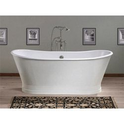 Cast Iron Tub, 68-inch Double Ended Pedestal Style, No Faucet Drillings, Balmoral by Cheviot