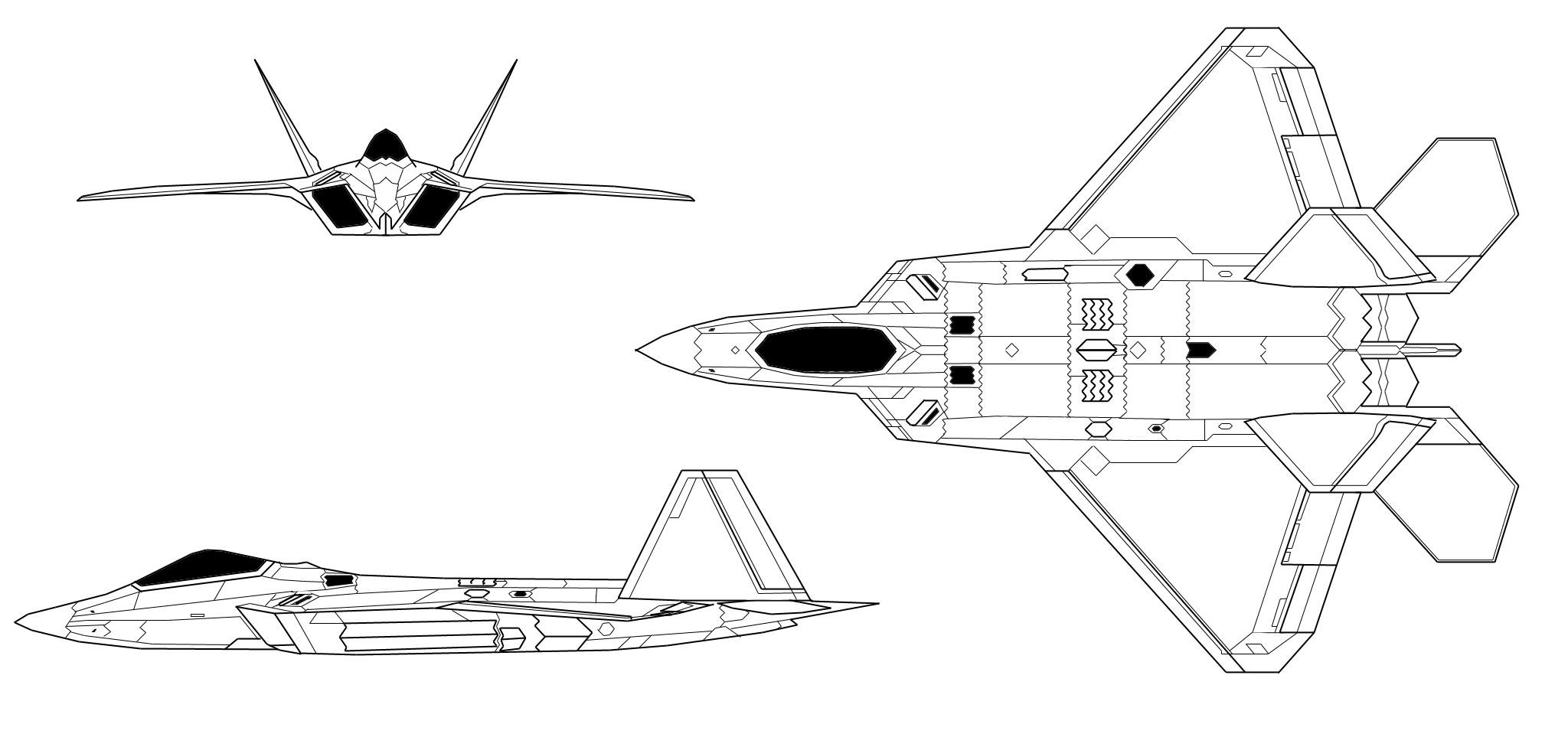 F22 Raptor Diagram
