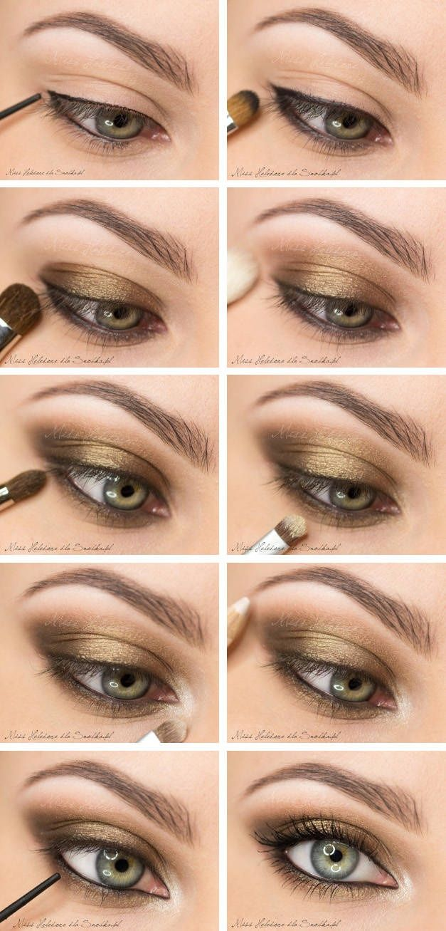 smoky eye with bronze/gold shadows | makeup :3 | pinterest