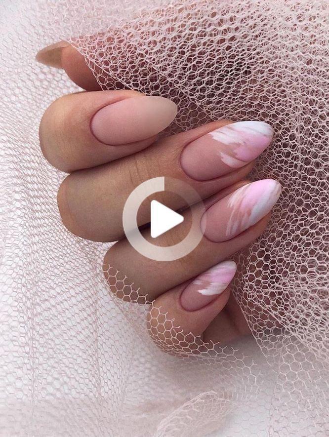 以下のための36本の驚くべき自然の短いアーモンドの爪…  –  #acrylicnails #almond #amazing #gelnailpolish #nailpolish