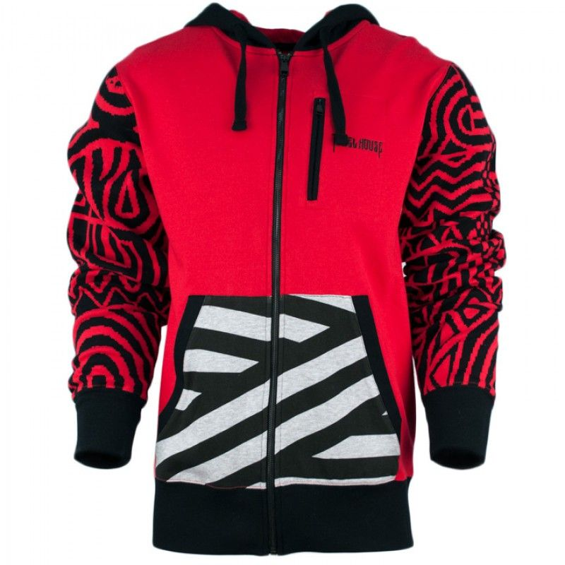 The Jewel House Printed Sleeve Zip Hoodie is available for