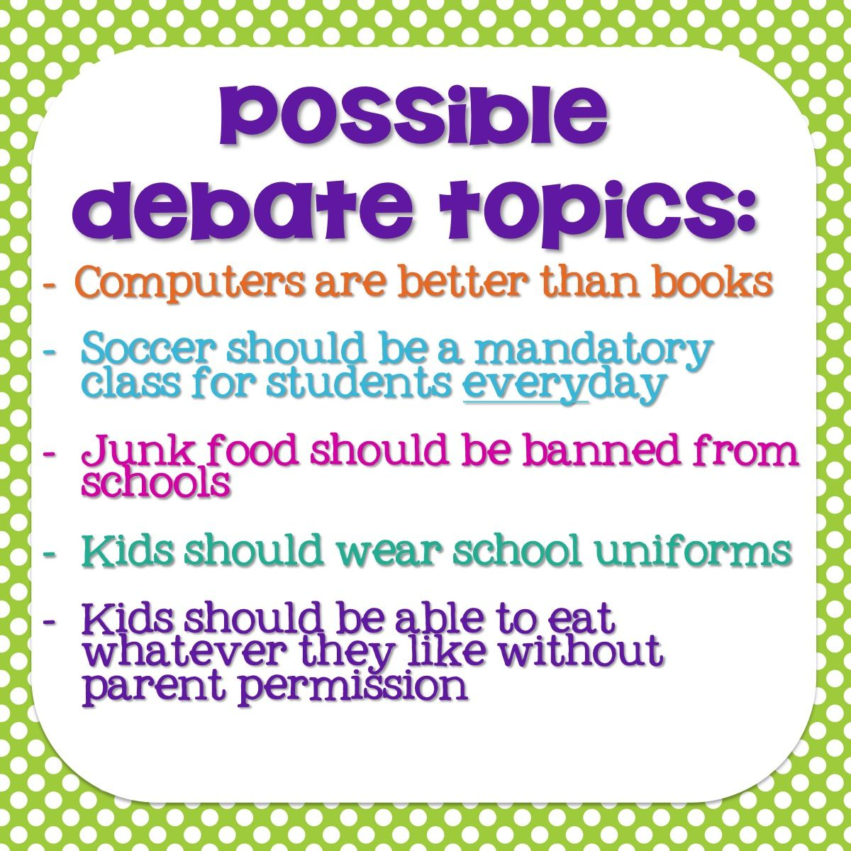 How to Use Debates to Teach Opinion Writing (in the