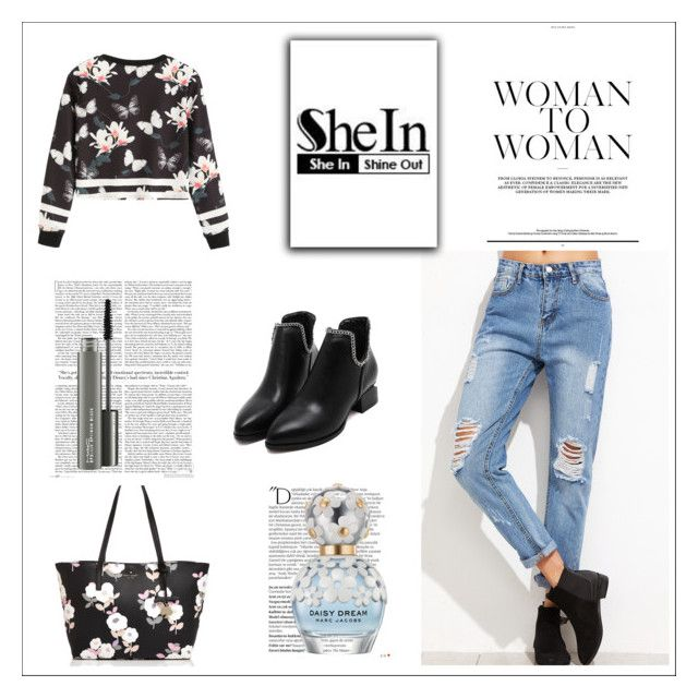 """""""SheIn 10/XV"""" by nermina-okanovic ❤ liked on Polyvore featuring Kate Spade, Balmain, Marc Jacobs and MAC Cosmetics"""