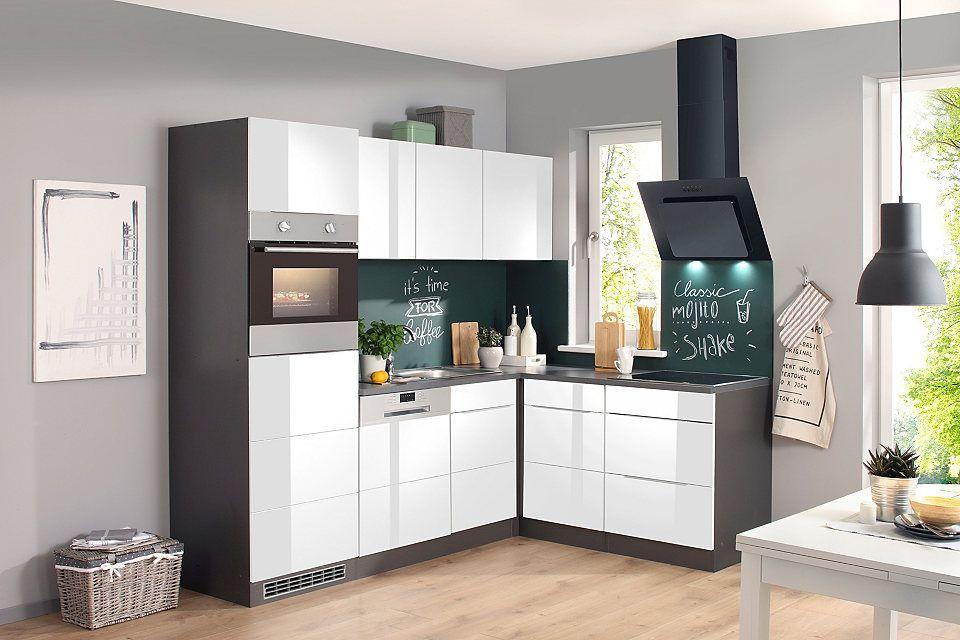 Küchenzeile mit E-Geräten »Brindisi, 230 x 170cm« Jetzt bestellen - küchenblock 270 cm