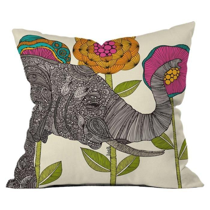Aaron Throw Pillow by Valentina Ramos