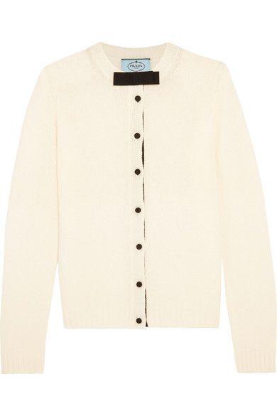 PRADA Bow-Embellished Wool Cardigan. #prada #cloth #knitwear