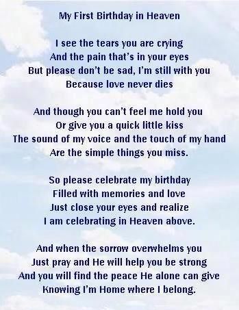 My First Birthday In Heaven Happy First Birthday In Heaven Aunt