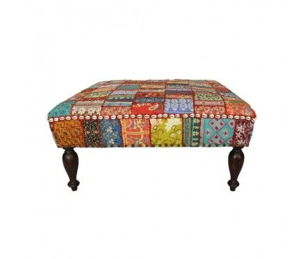 cute idea - diy and ottoman cover with a quilt top...didn't want to join the website so pic isn't as big as I'd like...still, I like the idea very much!