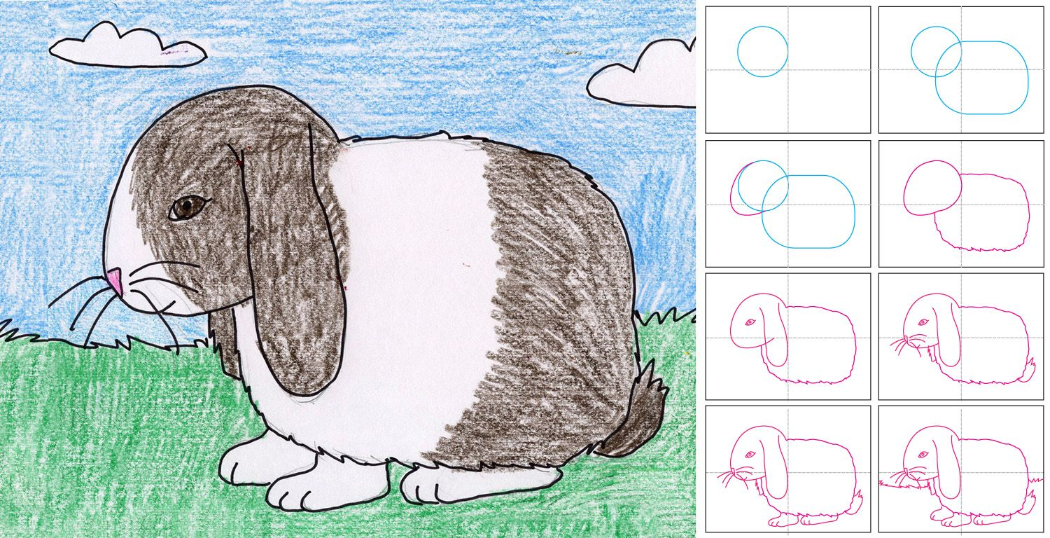 Art Projects For Kids How To Draw A Floppy Ear Bunny