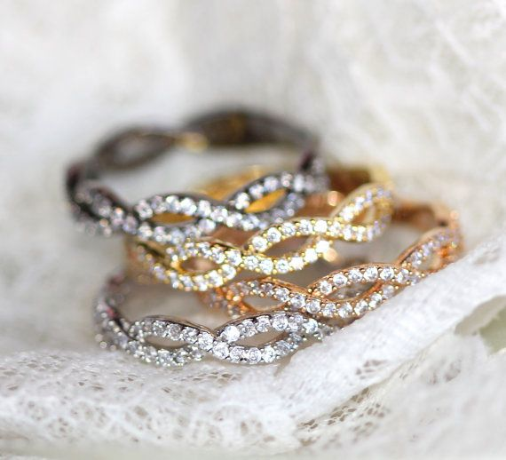 Infinity Ring Size 6 Rose Gold Yellow Gold Silver Or Charcoal Jewelry Inspiration Infinity Ring Pure Products