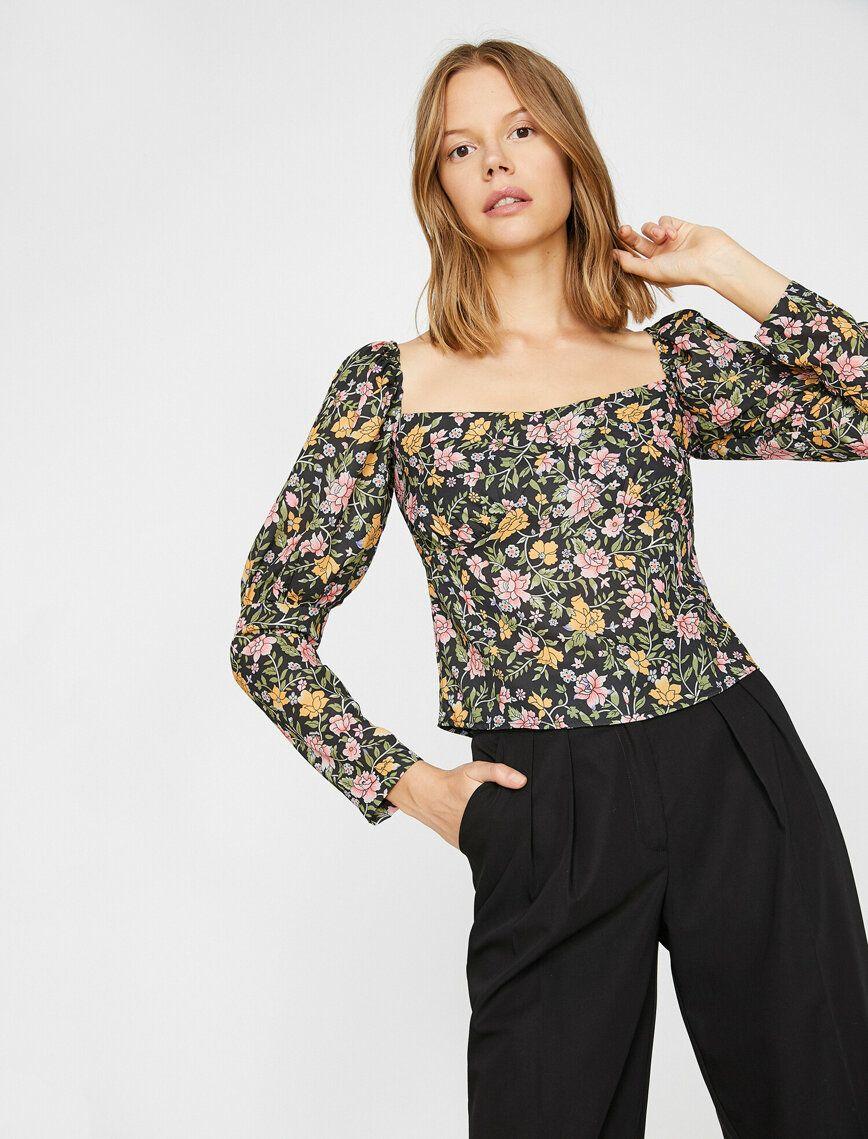Desenli Bluz 2020 Bluz Uzun Kollu Kadin