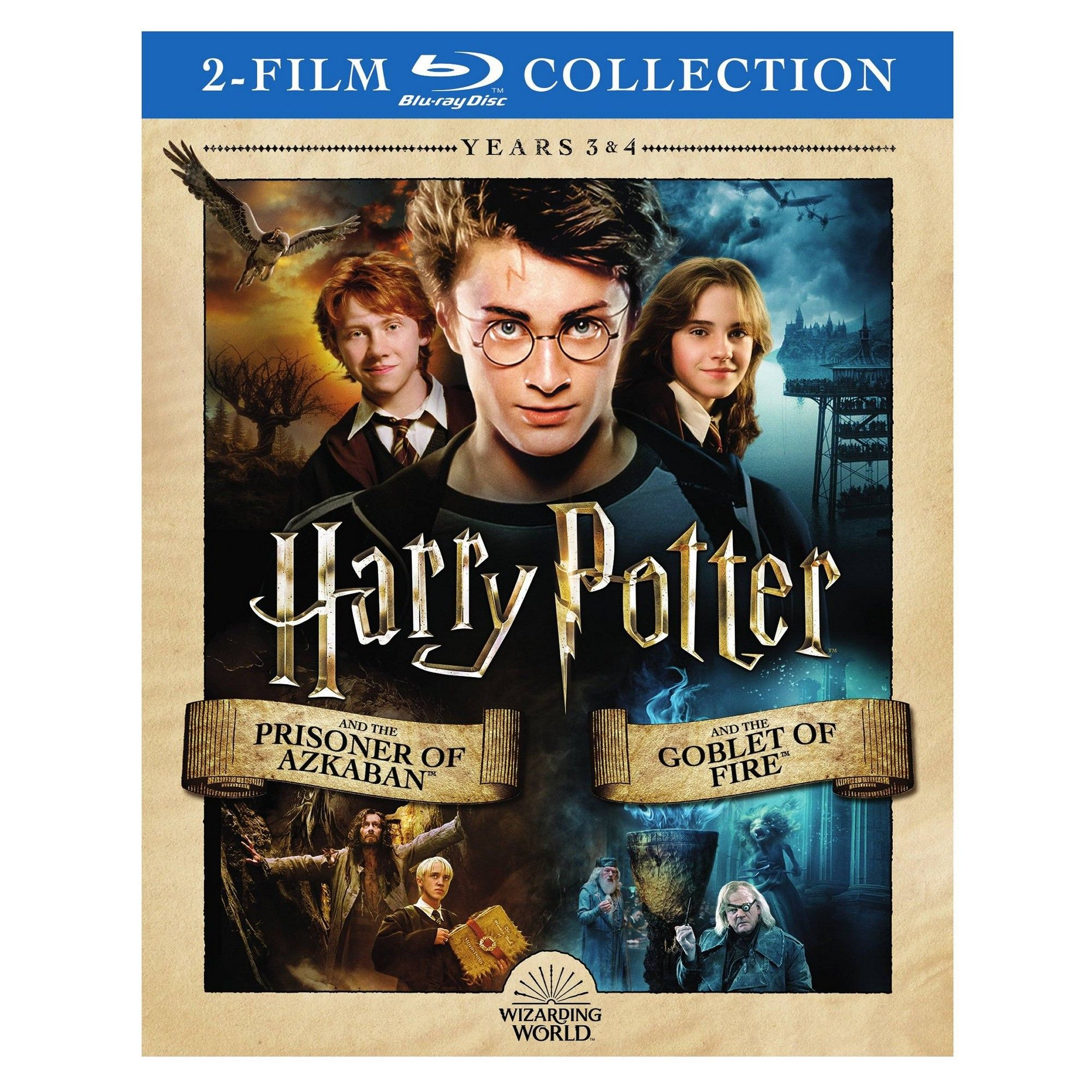 Harry Potter Yr3 Prisoner Azkaban Yr4 Blu Ray Prisoner Of Azkaban Azkaban Goblet Of Fire
