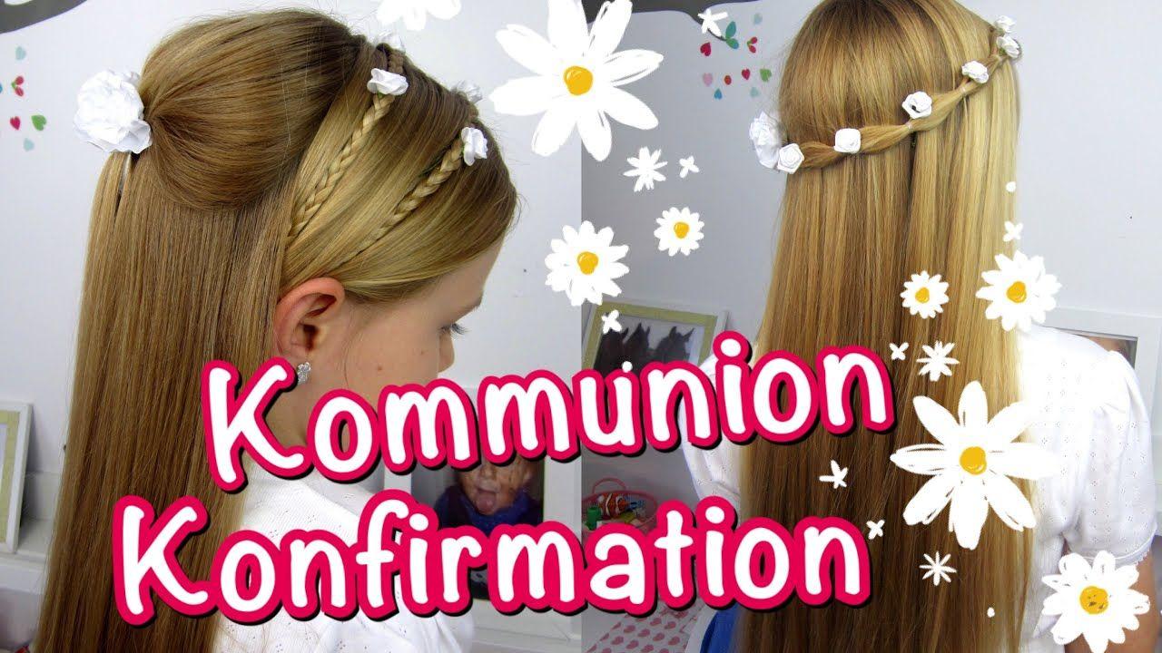 Konfirmation Kommunion Frisuren Klassisch Einfach Und Schnell Kommunion Frisuren Kommunion Frisur Madchen Festliche Frisuren Madchen