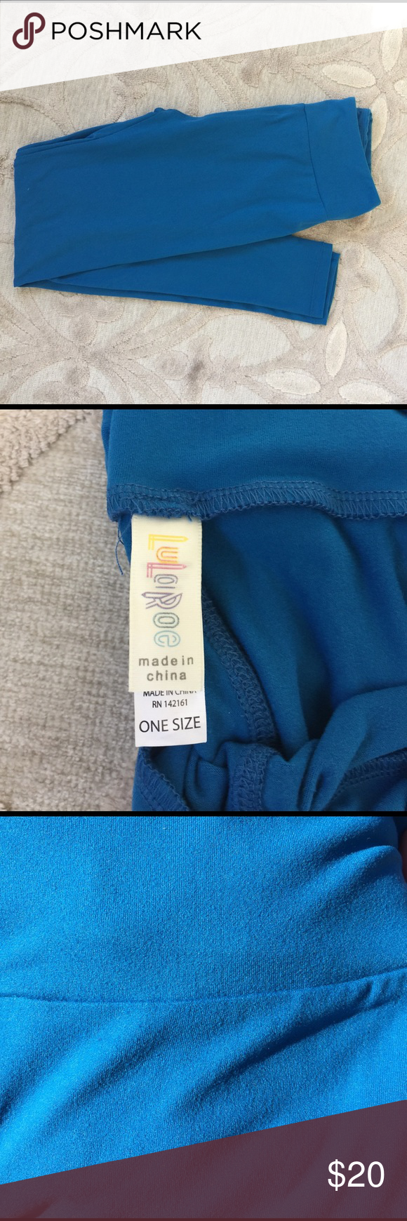 LulaRoe Solid Blue Leggings One Size - OS New without tags. I bought this pair of leggings on poshmark to match a shirt. Unfortunately, did not match so I am reselling. Color is best described as a dark royal blue. Definitely not navy, royal blue or teal- rather a combination of all 3. LuLaRoe Pants Leggings