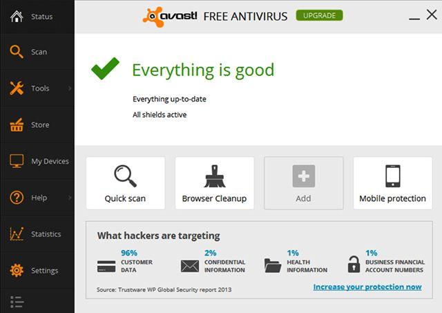 best free antivirus win 8.1
