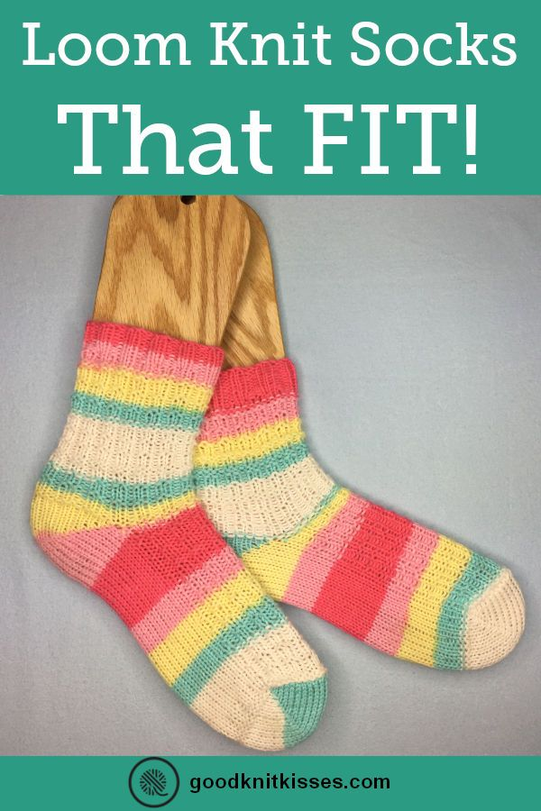 This Is the Best Way to Loom Knit Socks That FIT! | GoodKnit Kisses #loomknitting