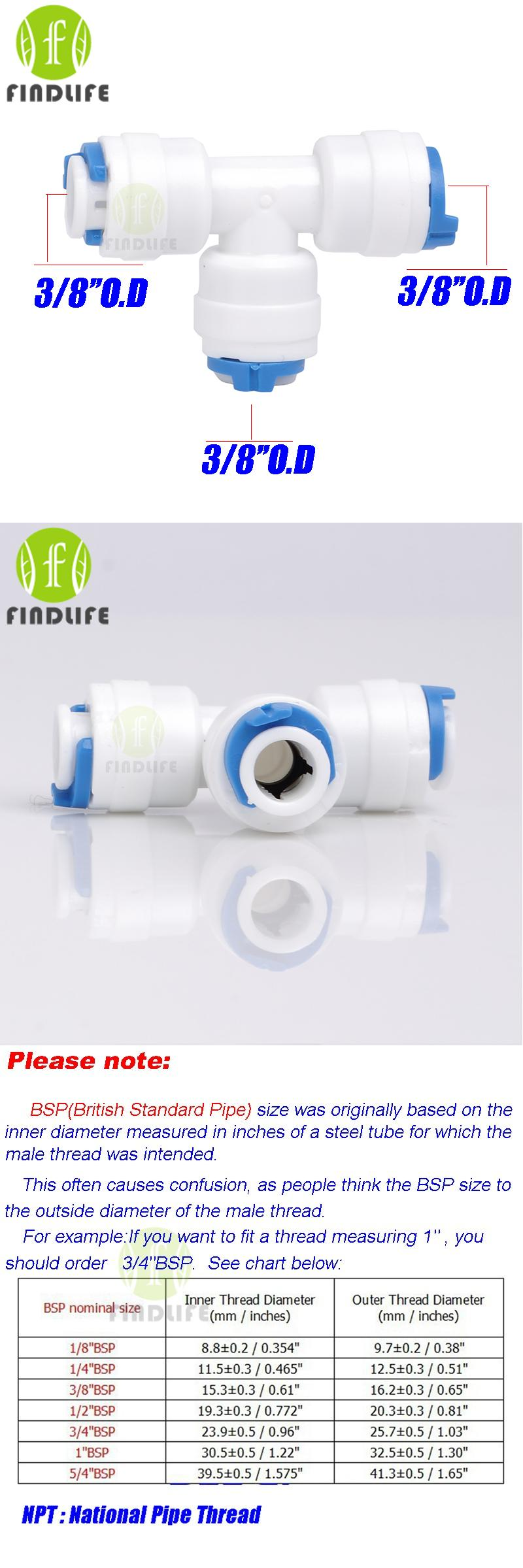 visit to buy 2 pcs 3 8 o d tube 3 way union tee quick connect push