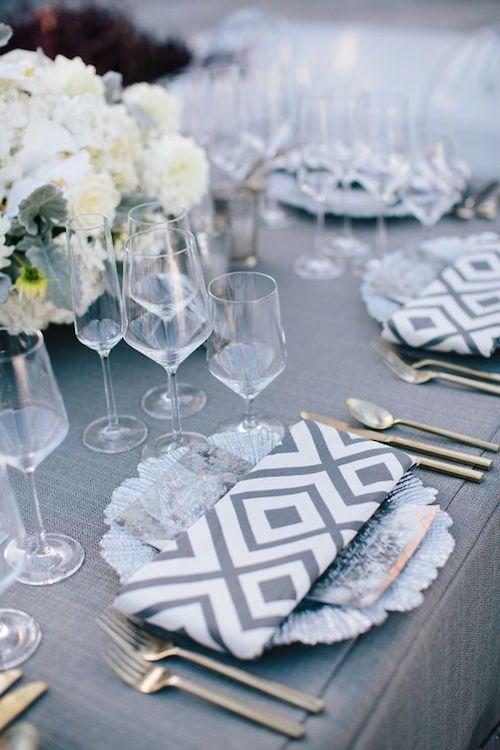 decoración para bodas en color gris: combinaciones e ideas divinas