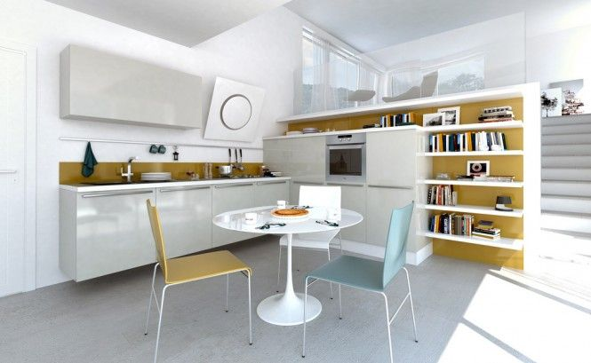 Modern Kitchens with Few Pops of Color