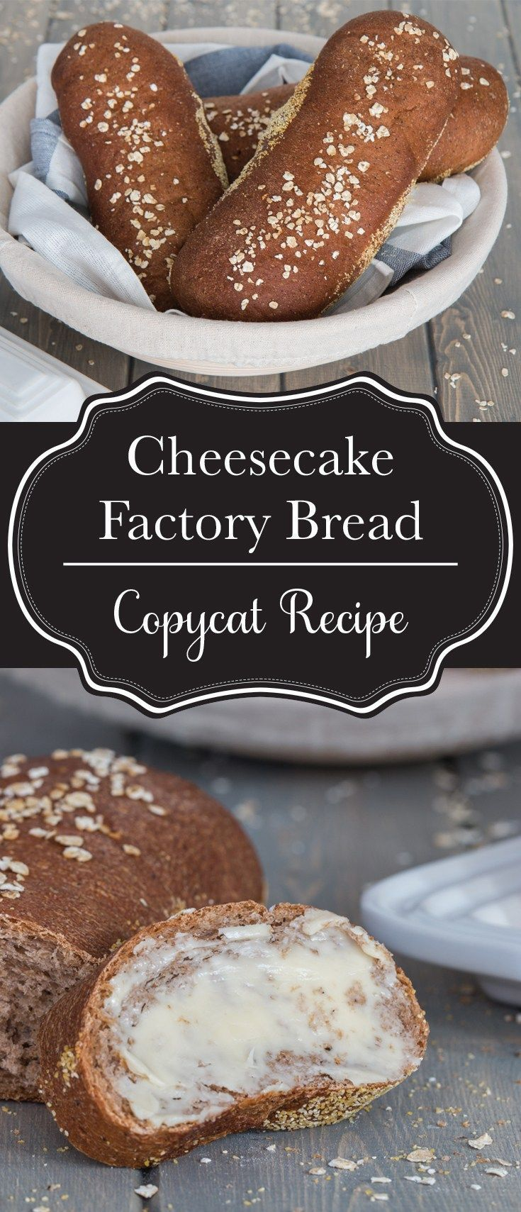 Cheesecake Factory brown bread copycat recipe. This honey wheat brown bread is everyone's favourite, and now you can make it whenever you want at home! See why it's been the most popular recipe on Kitchen Trials since 2015! #cheesecakefactoryrecipes