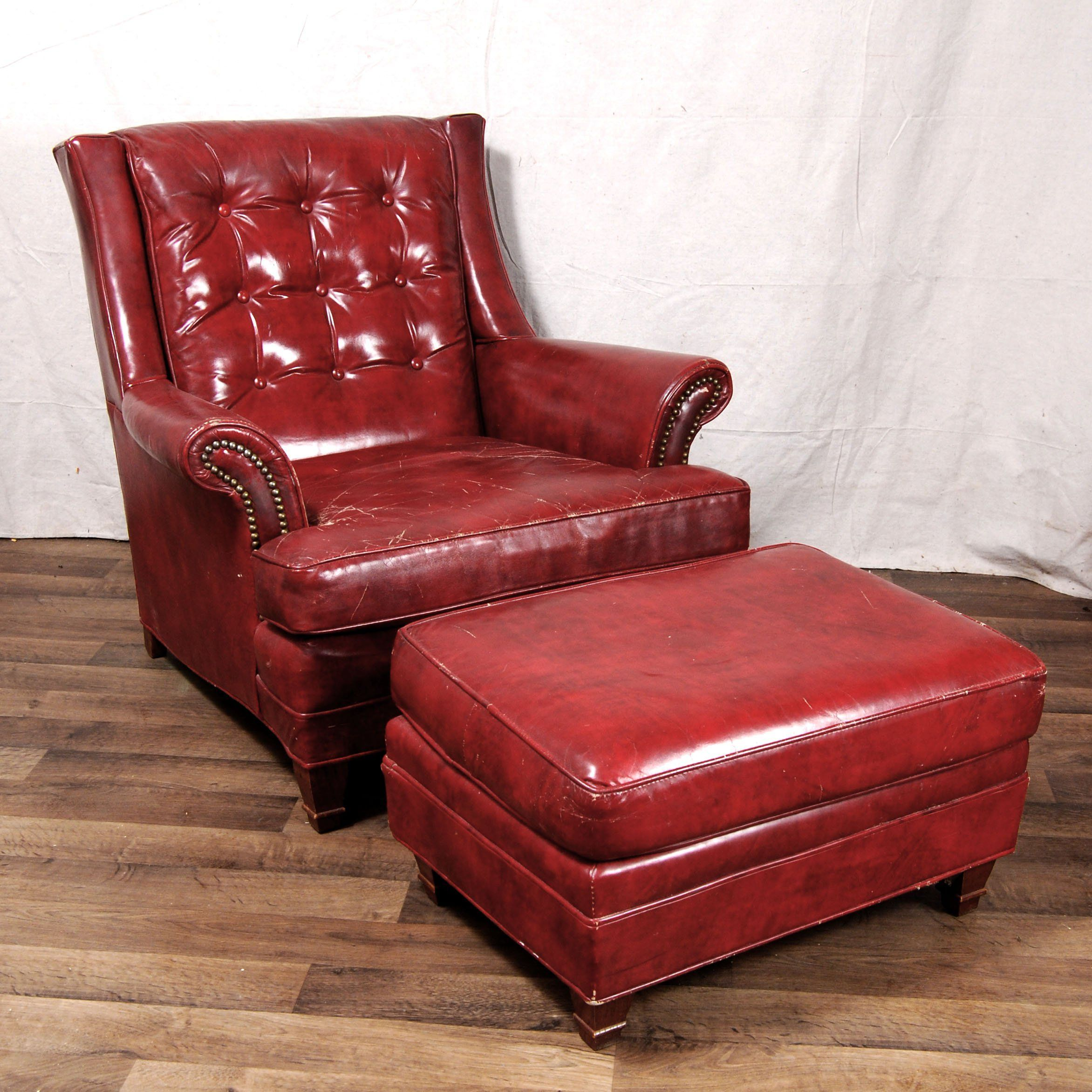 Leather Chair And Ottoman LeatherChair Chair and ottoman
