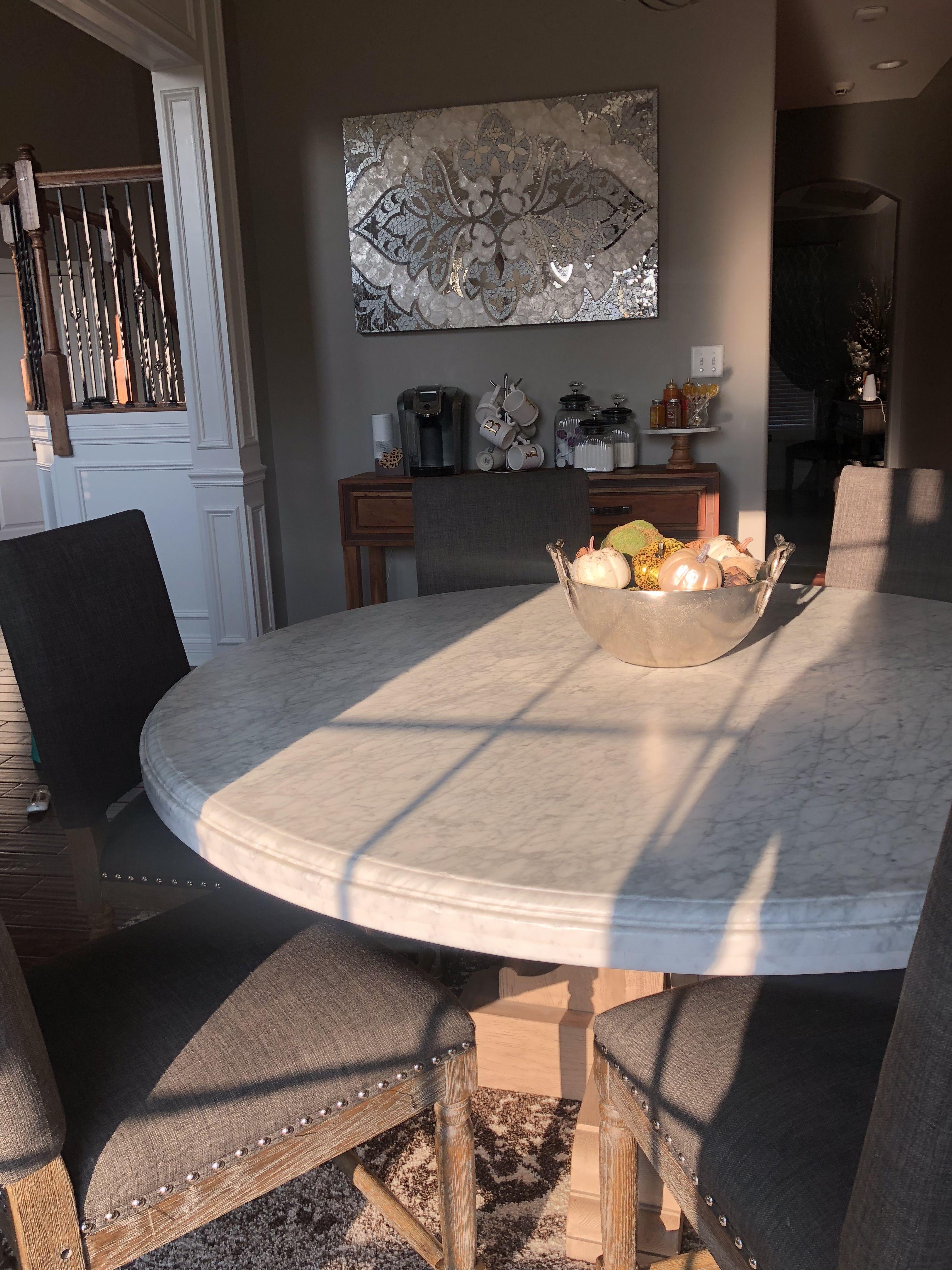 Restoration Hardware Marble Table Rustic Glam Rustic Decor