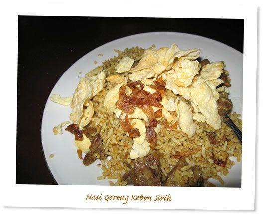Nasi Goreng Kambing Kebon Sirih Legend With Images Food My Favorite Food Favorite Recipes