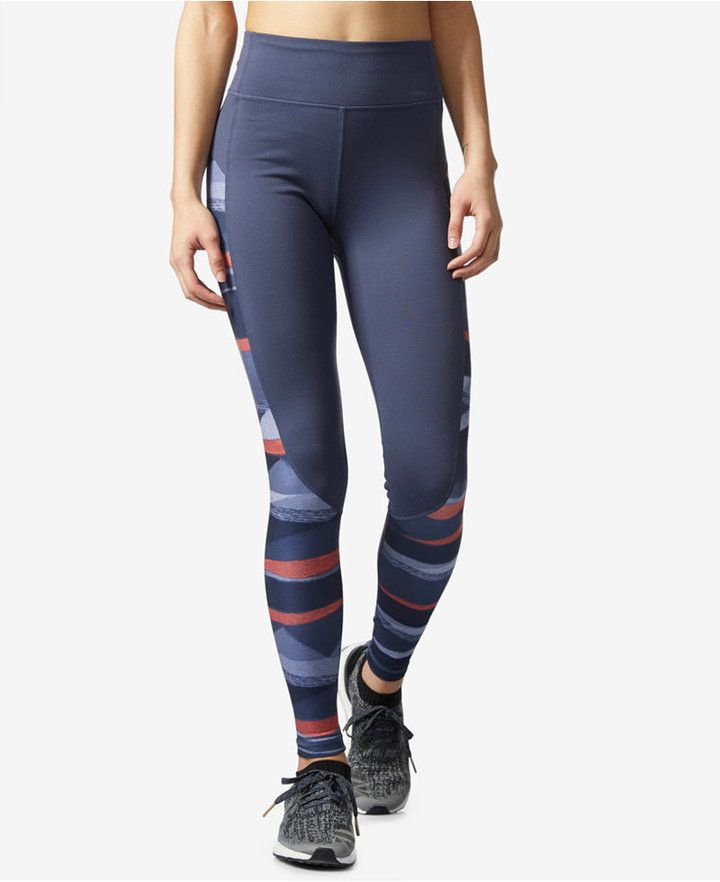 f725364b8c0 adidas Performer Camono ClimaLite Striped High-Rise Compression Leggings
