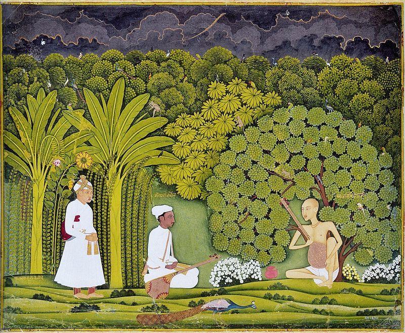 Akbar And Tansen Visit Haridas History Of Painting
